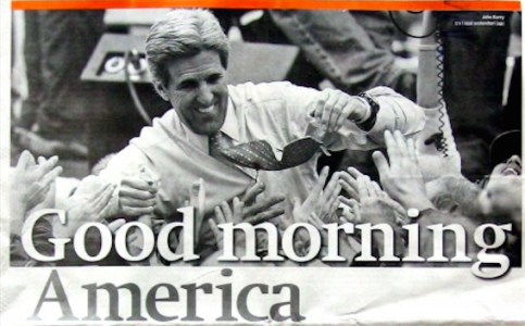 Prima pagina Manifesto 03 11 2014 - Ha vinto Kerry - Good Morning America